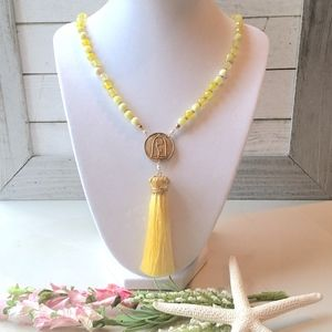 Belle// Disney Tassel Necklace// Handmade